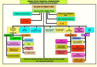 ORISSA STATE FINANCIAL CORPORATION ORGANISATION CHART (AS ON 31-03-2007)