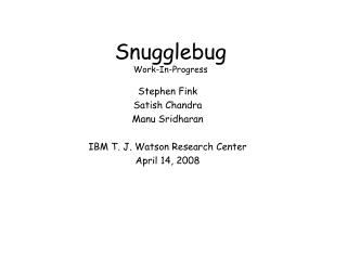 Snugglebug Work-In-Progress