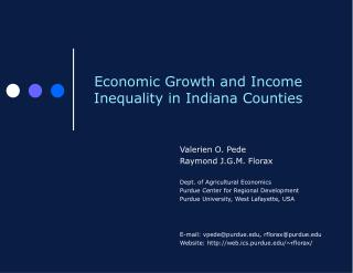 Economic Growth and Income Inequality in Indiana Counties
