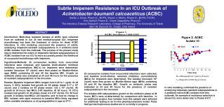 Subtle Imipenem Resistance In an ICU Outbreak of  Acinetobacter-baumanii calcoaceticus  (ACBC)