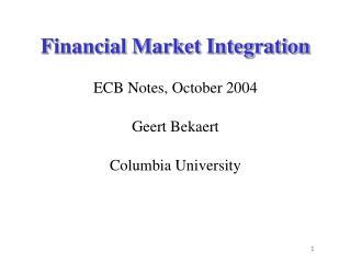 Financial Market Integration