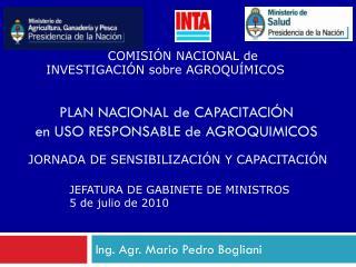 PLAN NACIONAL de CAPACITACIÓN  en USO RESPONSABLE de AGROQUIMICOS
