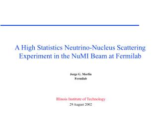 A High Statistics Neutrino-Nucleus Scattering Experiment in the NuMI Beam at Fermilab