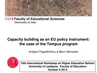 Capacity building as an EU policy instrument: the case of the Tempus program