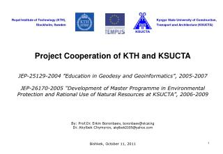 Project Cooperation of KTH and KSUCTA