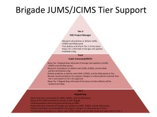 Brigade JUMS/JCIMS Tier Support