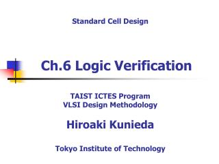 Ch.6 Logic Verification