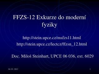 FF Z S-1 2  Exkurze do moderní fyziky