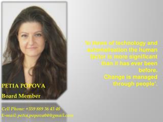 PETIA POPOVA Board Member