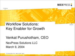 Workflow Solutions: Key Enabler for Growth