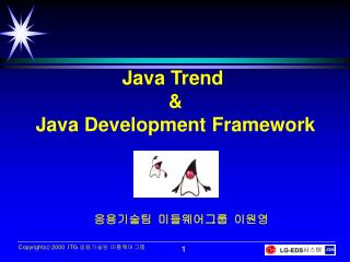 Java Trend  & Java Development Framework