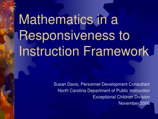 Mathematics in a Responsiveness to Instruction Framework