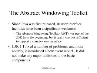 The Abstract Windowing Toolkit