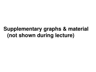 Supplementary graphs & material (not shown during lecture)