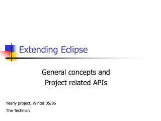 Extending Eclipse