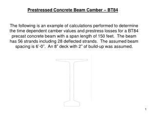 Prestressed Concrete Beam Camber – BT84