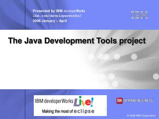 The Java Development Tools project