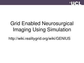 Grid Enabled Neurosurgical Imaging Using Simulation