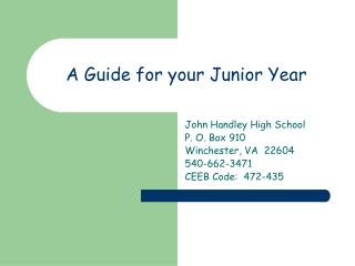 A Guide for your Junior Year