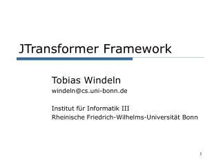 JTransformer Framework