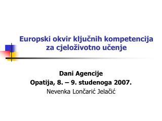 Europski okvir ključnih kompetencija za cjeloživotno učenje