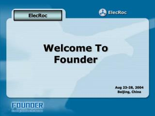 Welcome To Founder