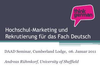 Hochschul-Marketing und Rekrutierung für das Fach Deutsch