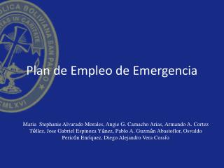 Plan de Empleo de Emergencia
