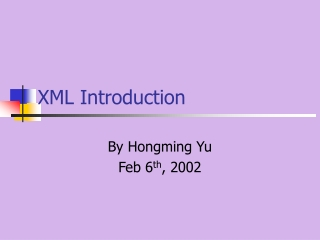 Introduction to WAP and WML