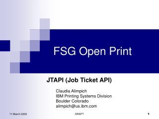 FSG Open Print