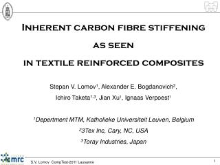 Inherent carbon fibre stiffening  as seen  in textile reinforced composites