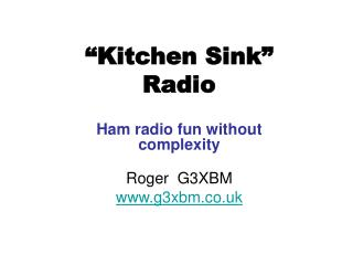 Kitchen Sink   Radio