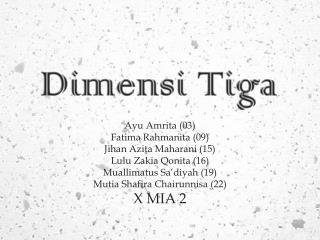 Dimensi Tiga