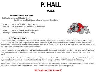 P. HALL  A.S.T.