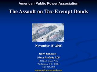The Assault on Tax-Exempt Bonds