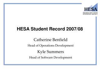 HESA Student Record 2007/08