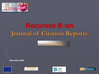 Recursos B-on Journal of Citation Reports