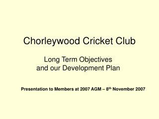Chorleywood Cricket Club