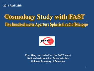 Zhu, Ming  (on  behalf of  the FAST team) National Astronomical Observatories