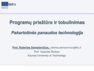 Program ų priežiūra ir tobulinimas Pakartotinės panaudos technologija