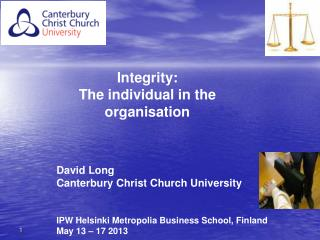 David Long Canterbury Christ Church University IPW Helsinki Metropolia Business School, Finland