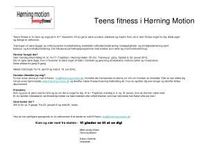 Teens fitness i Hørning Motion