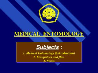 MEDICAL  ENTOMOLOGY