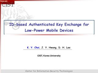 ID-based Authenticated Key Exchange for Low-Power Mobile Devices