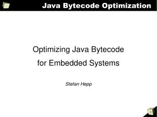 Java Bytecode Optimization