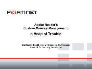 Adobe Reader's Custom Memory Management: a Heap of Trouble --