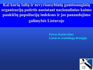 Petras Kurlavičius Lietuvos ornitologų draugija