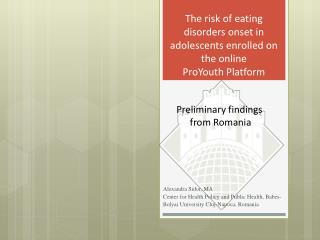 The risk of eating disorders onset in adolescents enrolled on the online  ProYouth  Platform