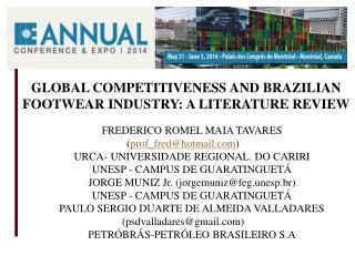FREDERICO ROMEL MAIA TAVARES ( prof_fred@hotmail ) URCA- UNIVERSIDADE REGIONAL. DO CARIRI