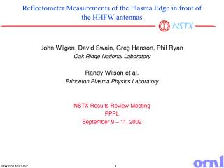 Reflectometer Measurements of the Plasma Edge in front of the HHFW antennas